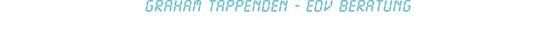 Graham Tappenden - EDV Beratung